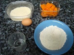 Ingredientes de los raviolis de calabaza