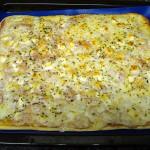 Foto de la pizza después de pasar por el horno